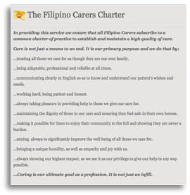 Filipino Carers Charter